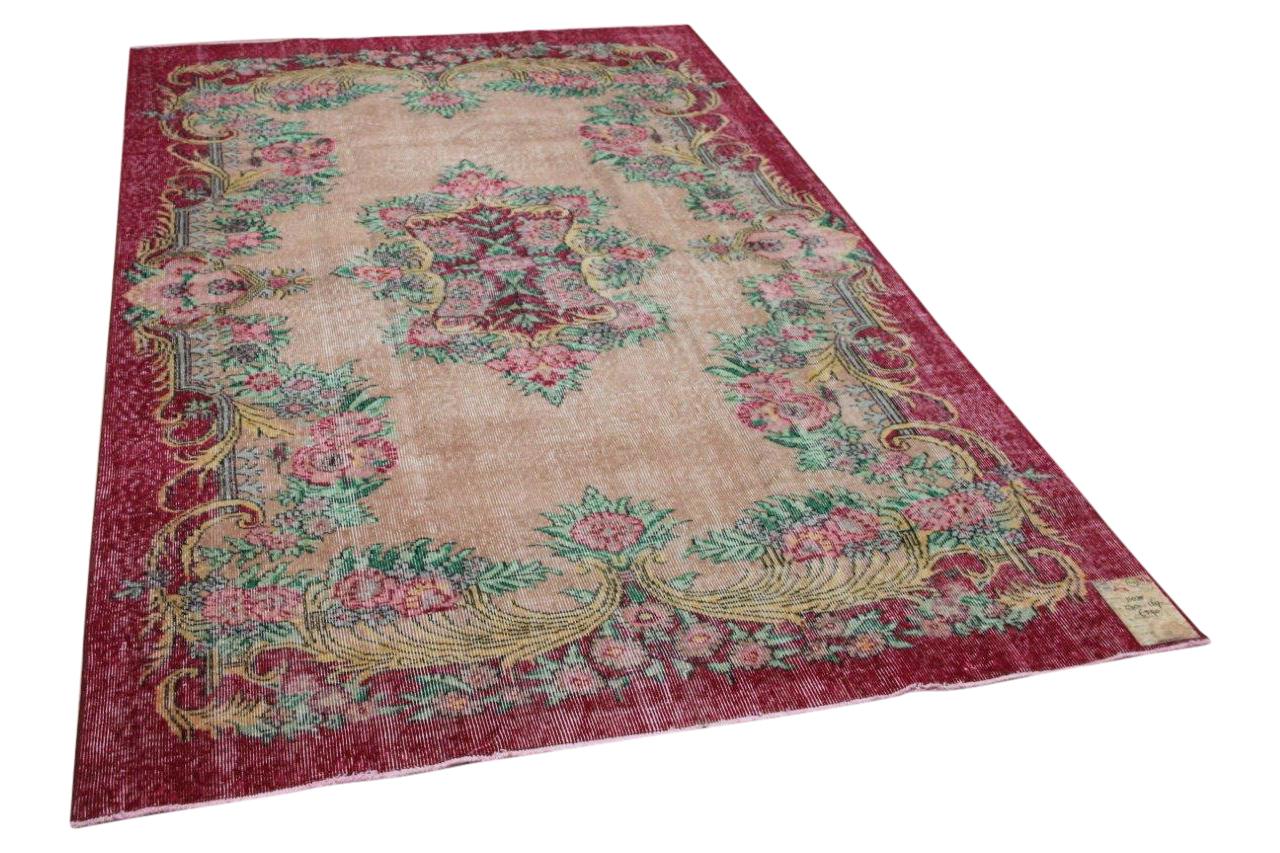 Vintage vloerkleed rood, roze 11035 270cm x 169cm