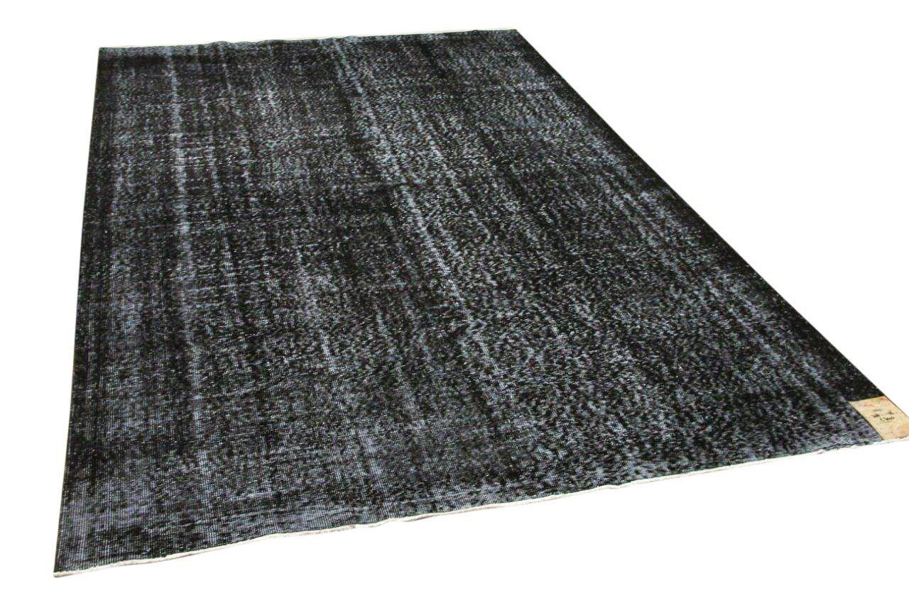 Vintage vloerkleed zwart 11041 308cm x 196cm