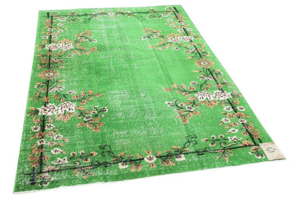 Vintage vloerkleed groen 11042 256cm x 159cm