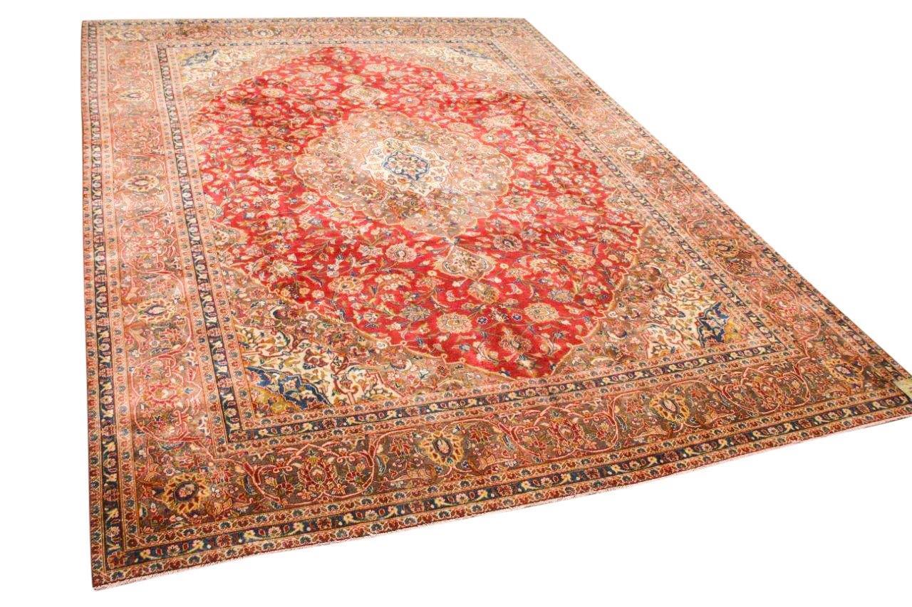 Vintage vloerkleed met rood 11045 398cm x 300cm