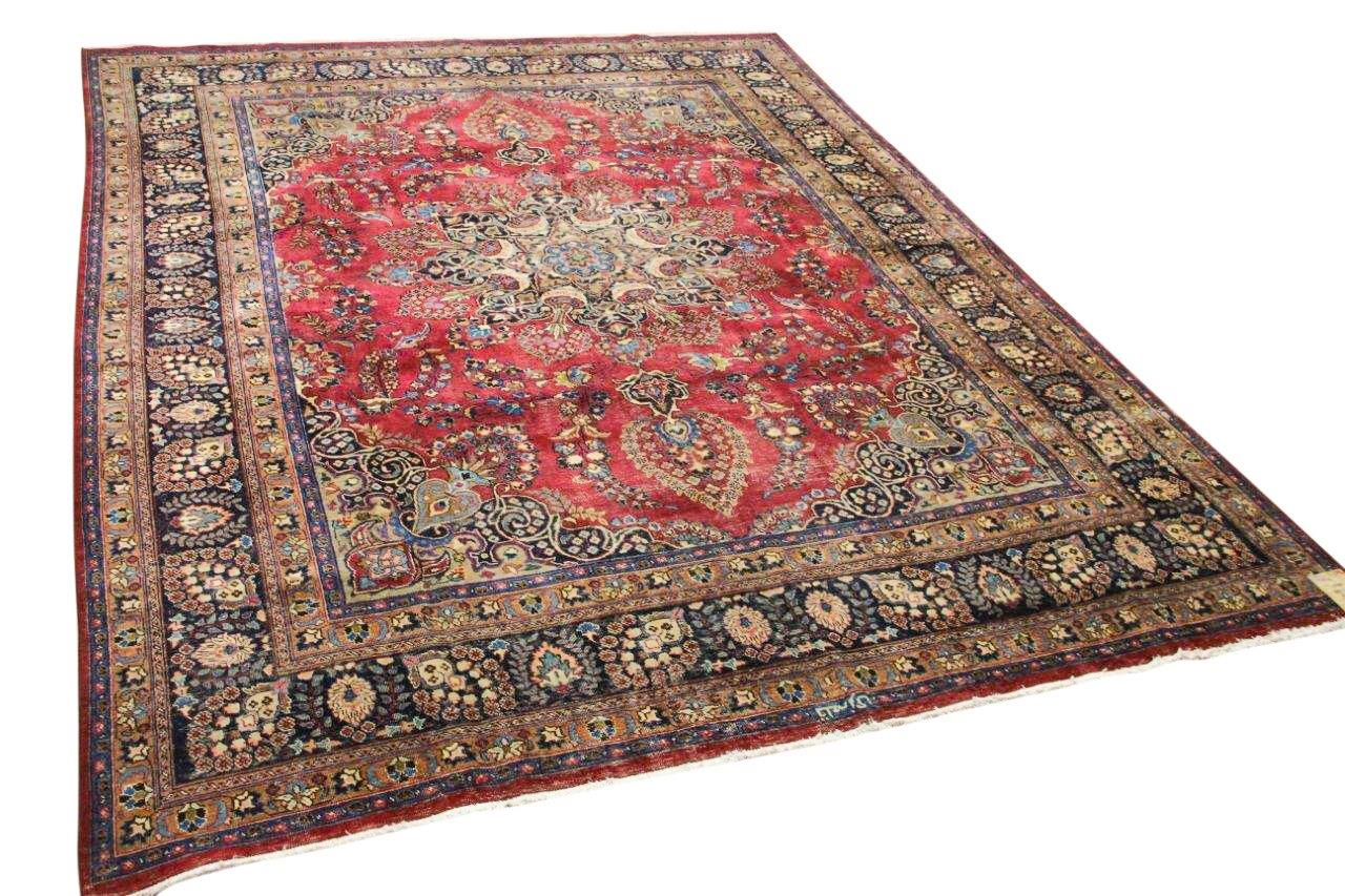 Vintage vloerkleed rood, blauw 11050 350cm x 290cm