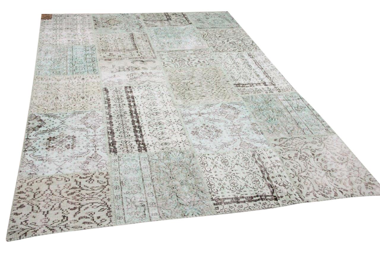 patchwork vloerkleed groen nr.11484 300cm x 200cm