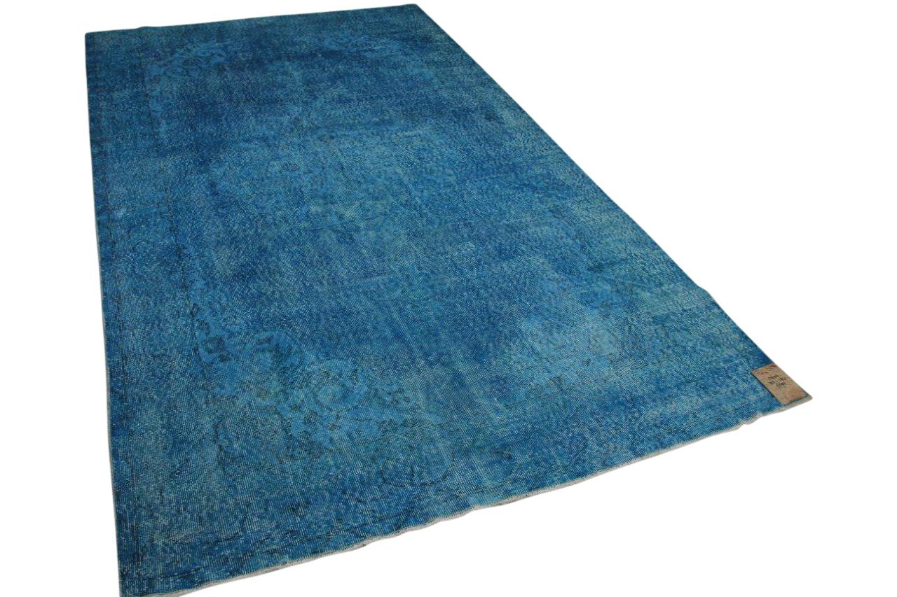 Vintage vloerkleed blauw 12630 325cm x 194cm