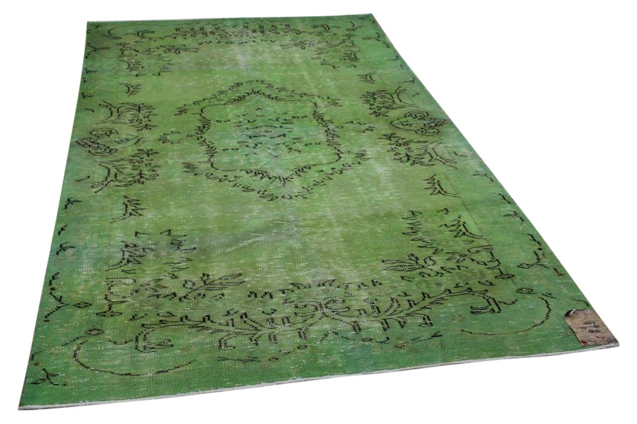 Vintage vloerkleed, groen nr.13682 280cm x 162cm