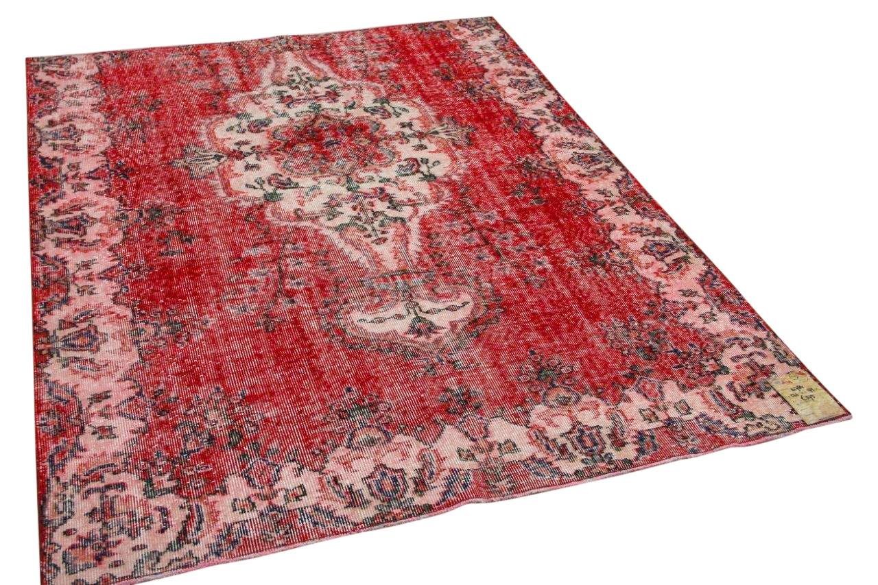 Vintage vloerkleed rood 14784 221cm x 174cm