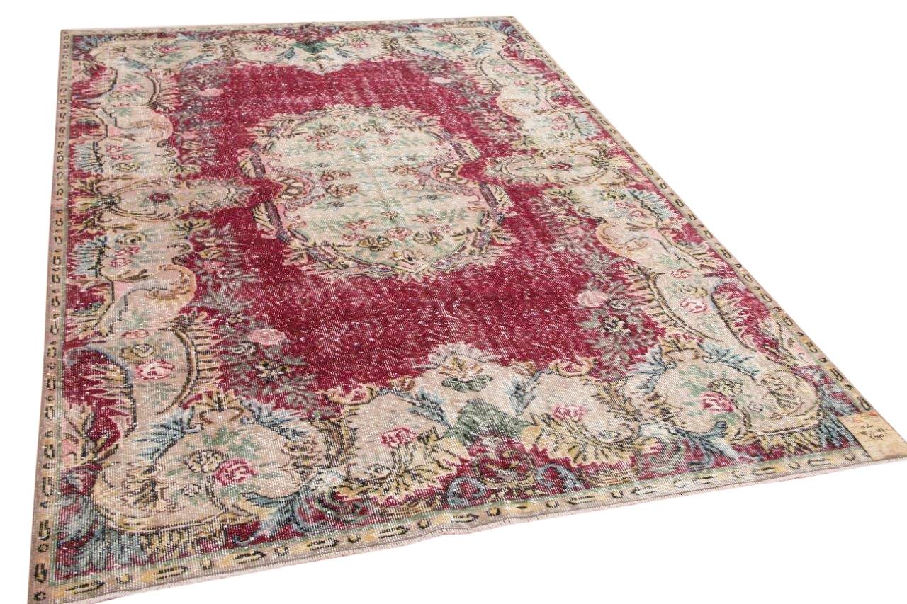 Vintage vloerkleed rood 15261 295cm x 193cm