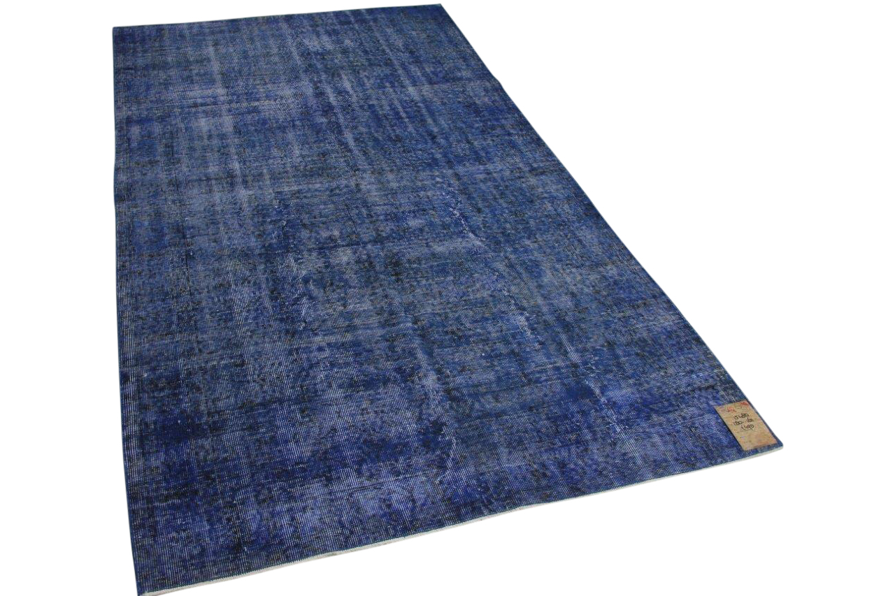 Vintage vloerkleed blauw 15480 280cm x 160cm