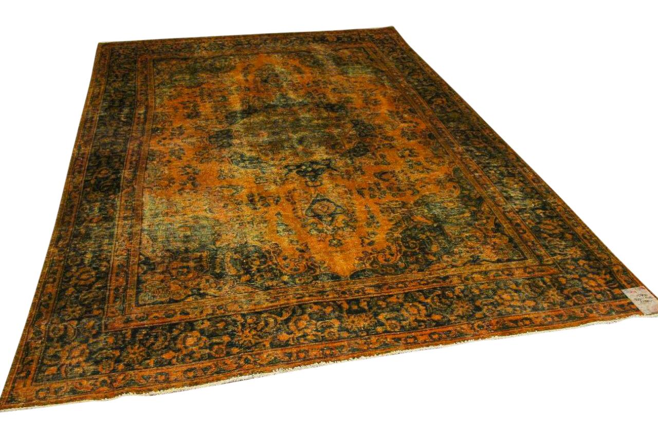 Vintage vloerkleed, okergeel, nr.15900, 340cm x 240cm