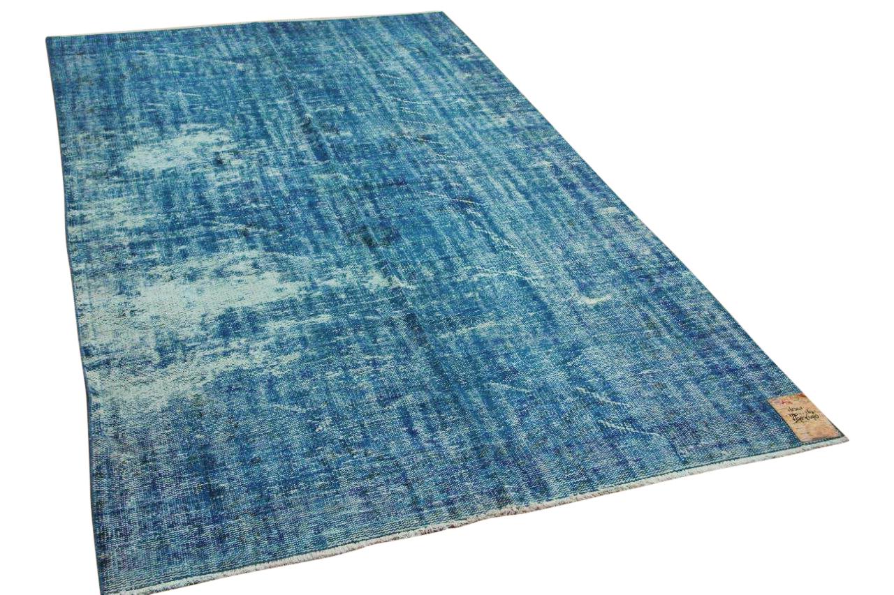 Vintage vloerkleed blauw 16341 280cm x 167cm