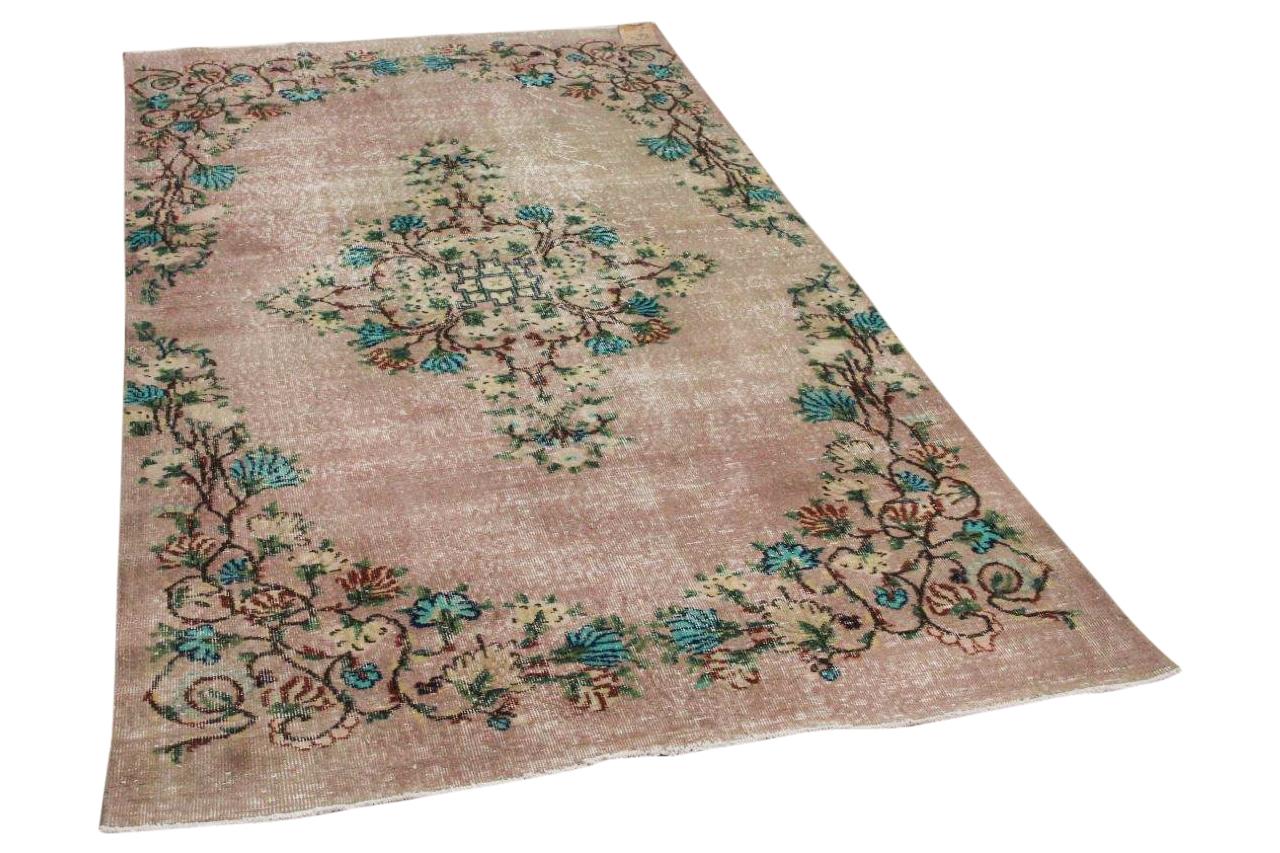 Vintage vloerkleed roze 16469 263cm x 151cm