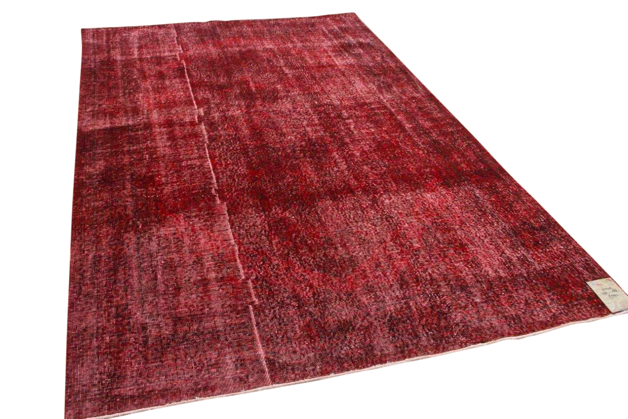 Vintage vloerkleed rood 16549 296cm x 188cm