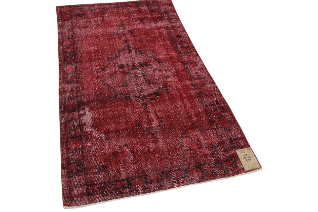 Vintage vloerkleed rood 17223 197cm x 113cm