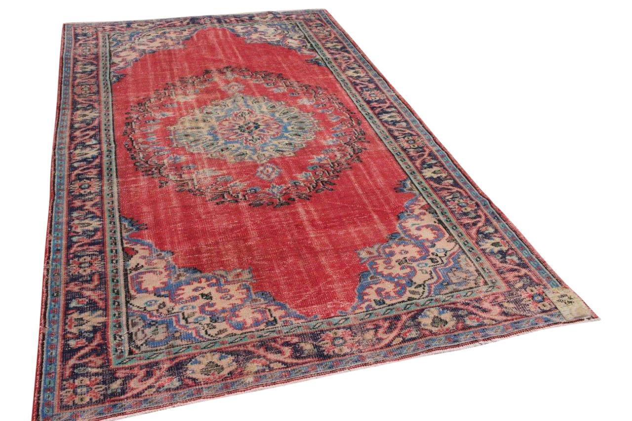 Vintage vloerkleed rood 17829 297cm x 186cm