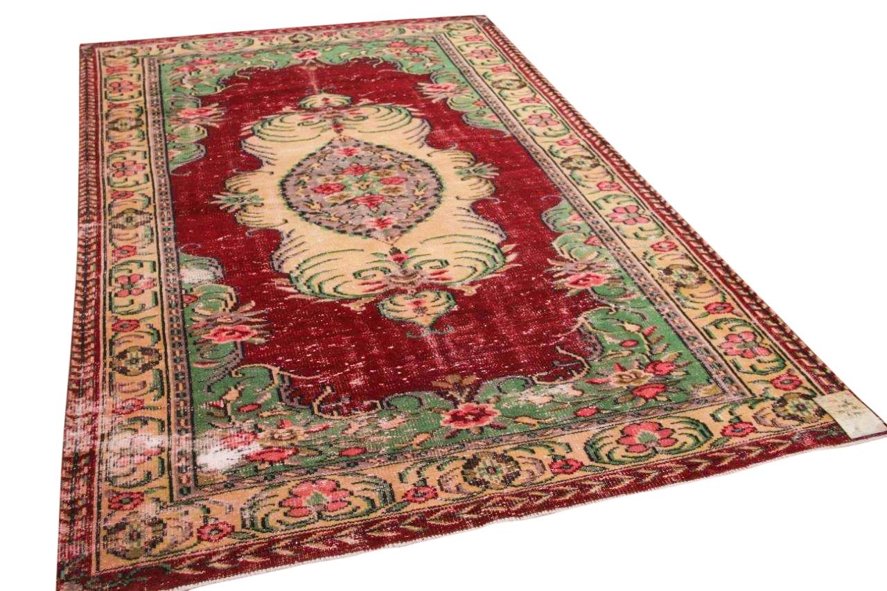 Vintage vloerkleed rood 17986 307cm x 185cm