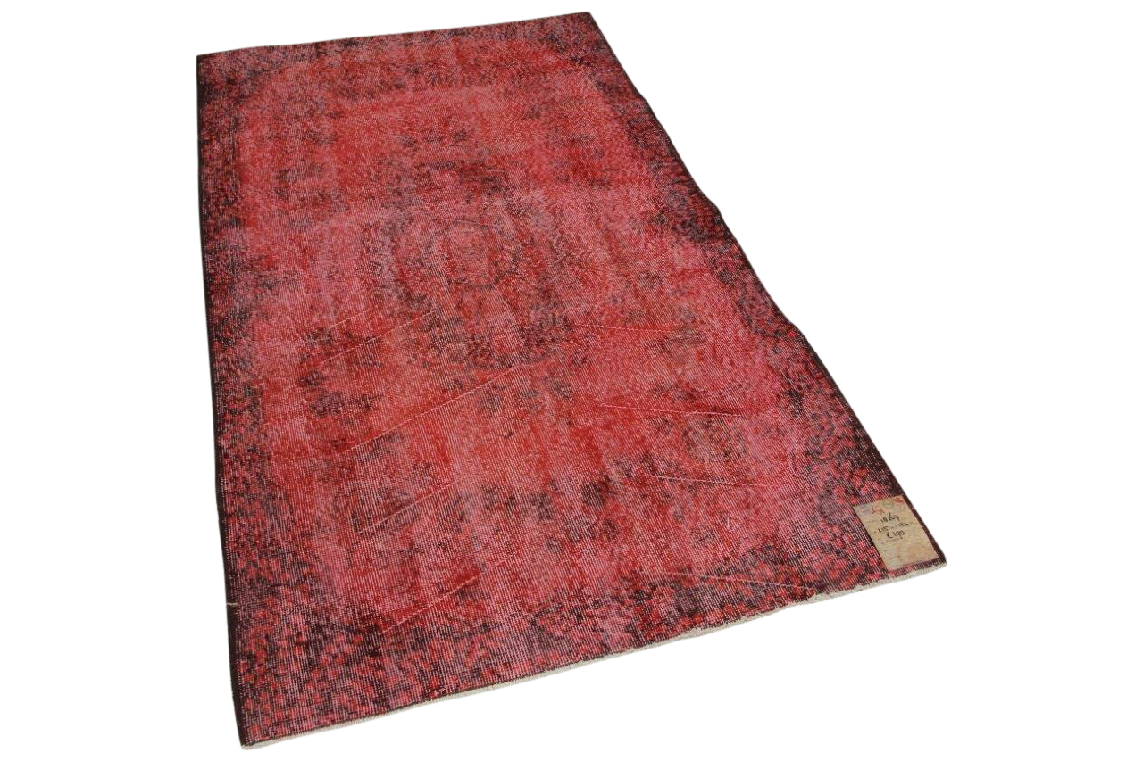 vintage vloerkleed rood 18267 215cm x 124cm