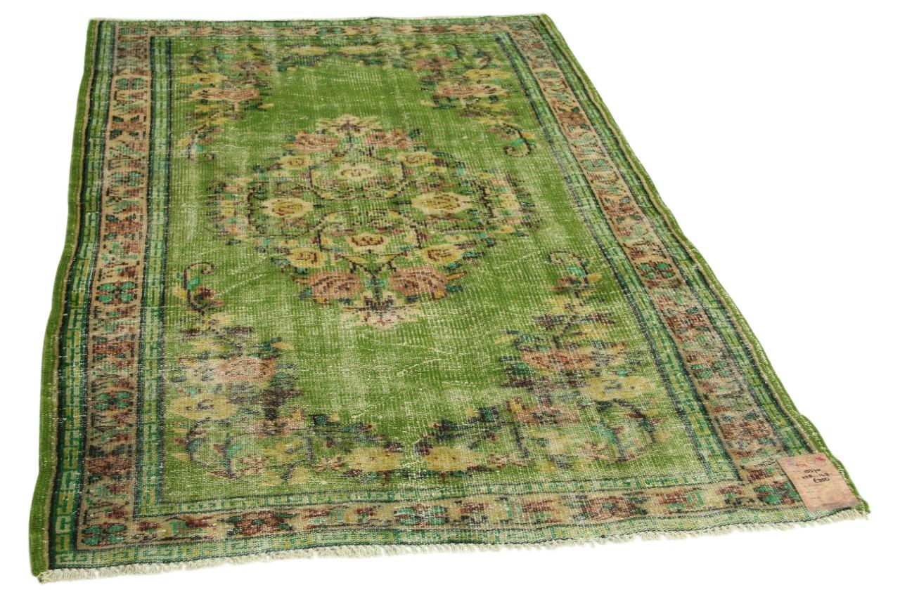 Groen vintage vloerkleed 228cm x 148cm nr18370
