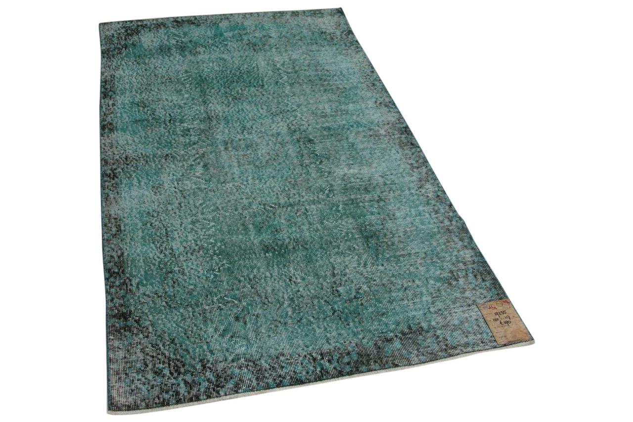 Vintage vloerkleed groen, blauw 19235 201cm x 117cm