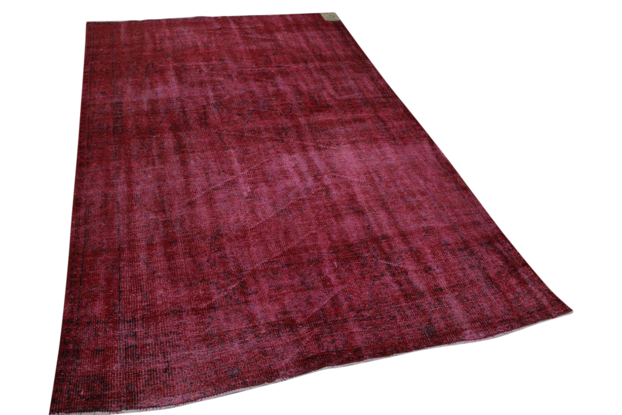 Vintage vloerkleed rood nr:23274 266cm x 161cm