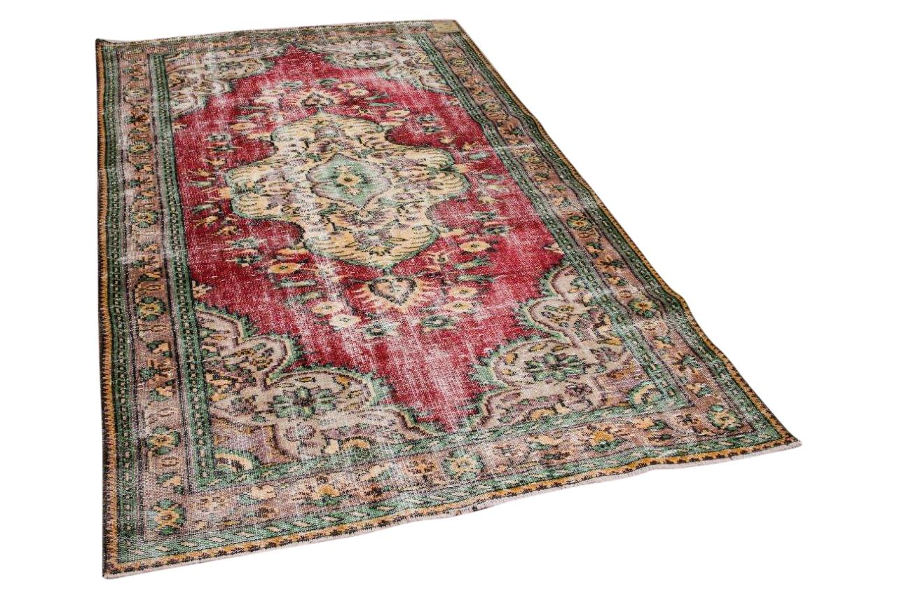 Vintage vloerkleed rood 24071 272cm x 159cm