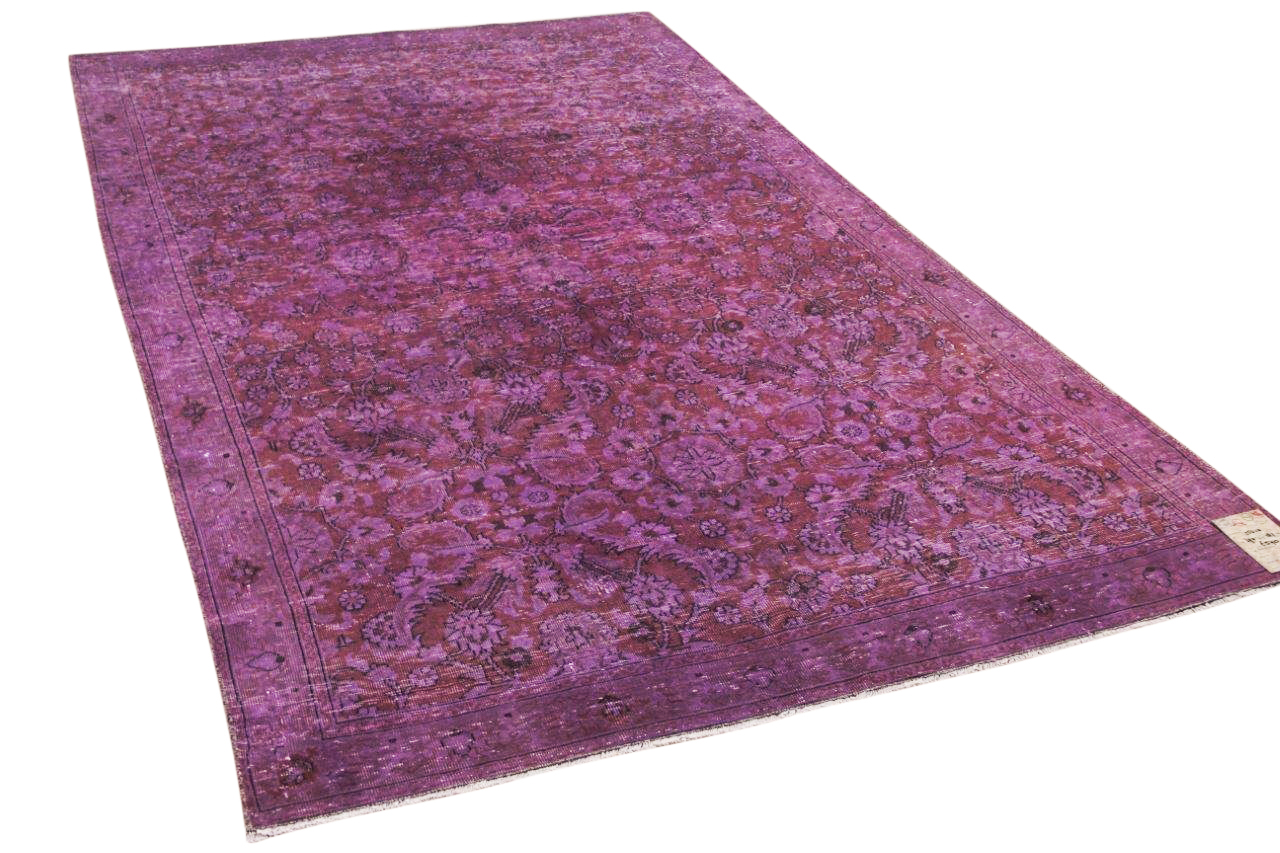 vintage vloerkleed paars 25010 290cm x 182cm