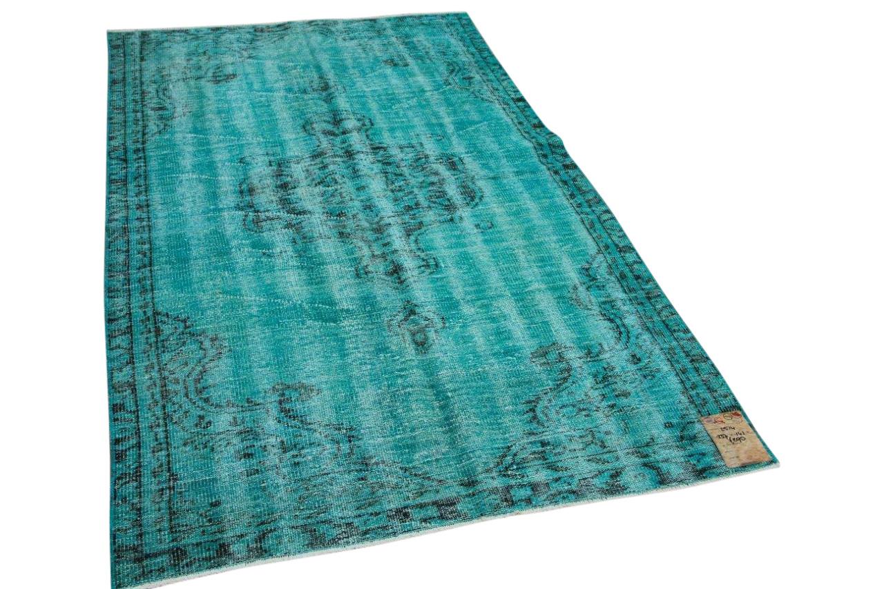 vintage vloerkleed met aqua blauw 2514 237cm x 141cm
