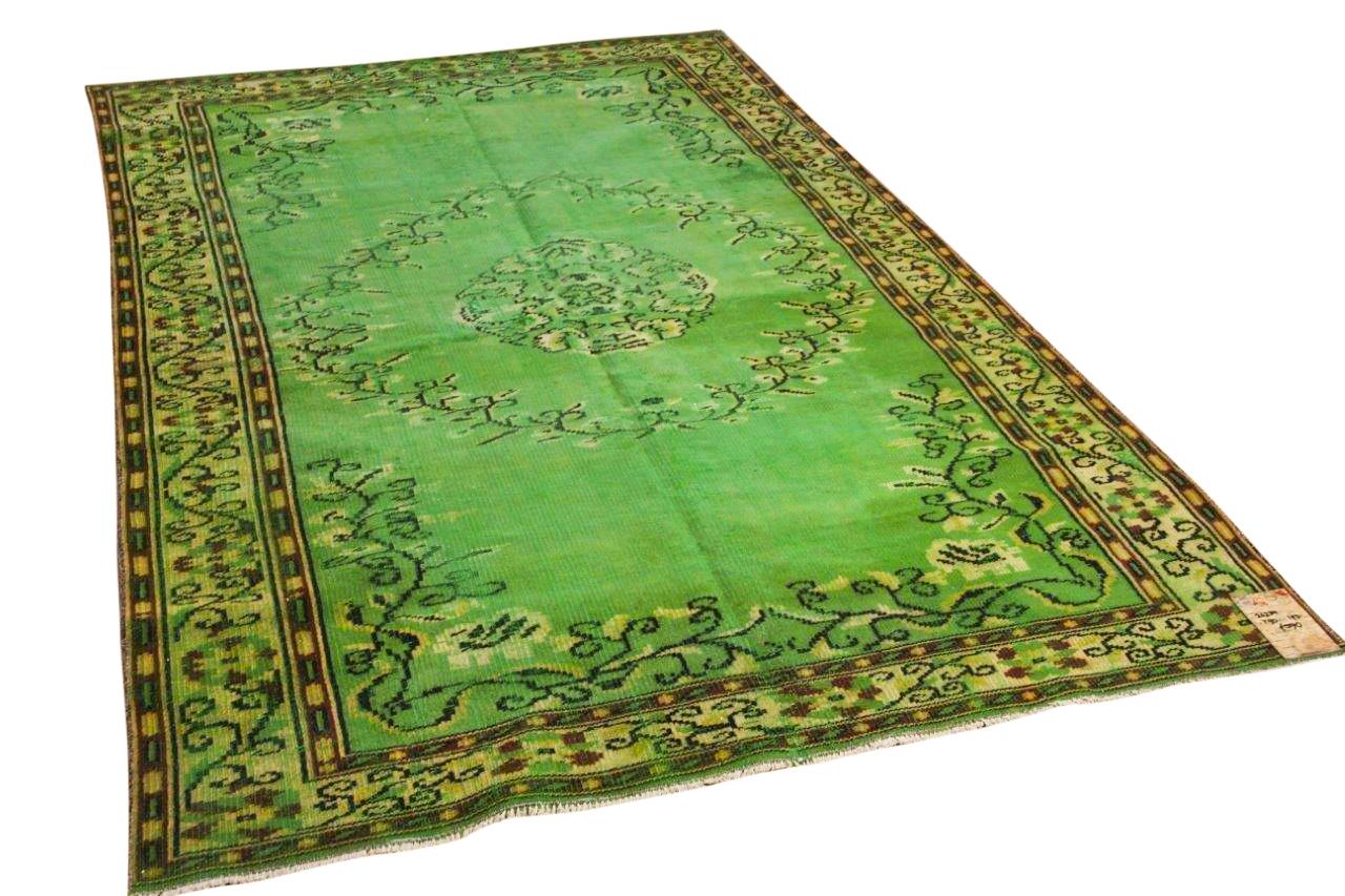 vintage vloerkleed groen 25234 290cm x 190cm