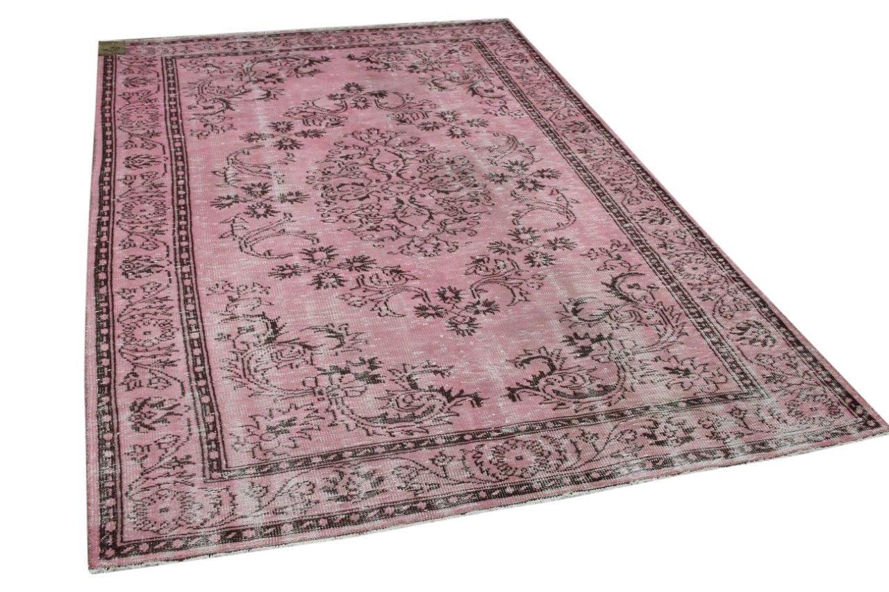 Vintage vloerkleed roze 2701 275cm x 182cm