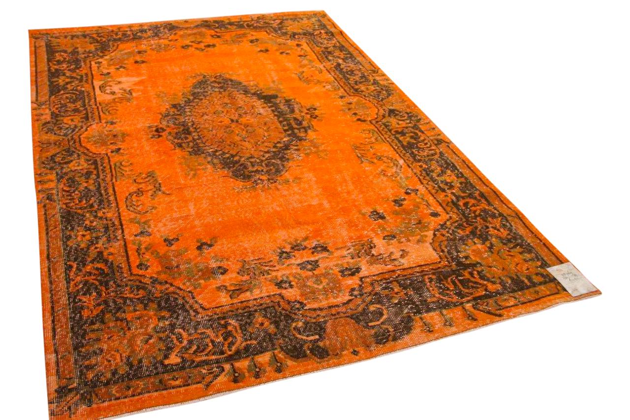 Vintage vloerkleed oranje 28769 266cm x 179cm