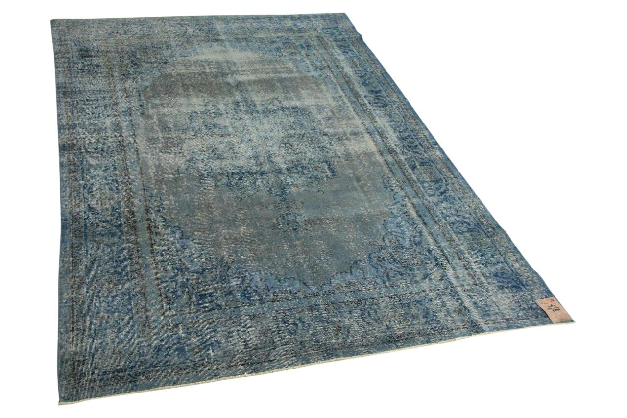 Blauw vintage vloerkleed 317cm x 217cm nr31267