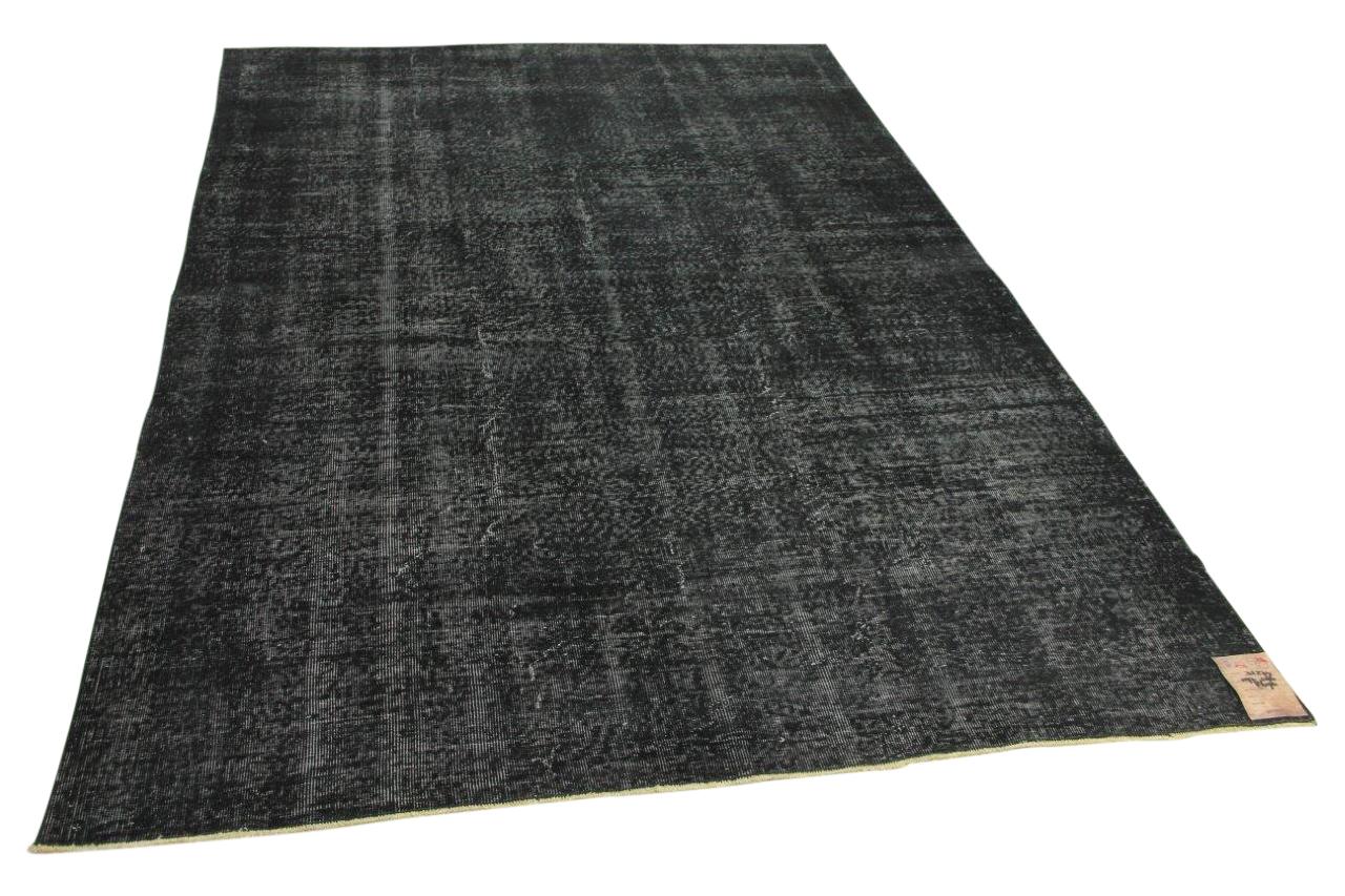 Zwart vintage vloerkleed 297cm x 196cm nr31274