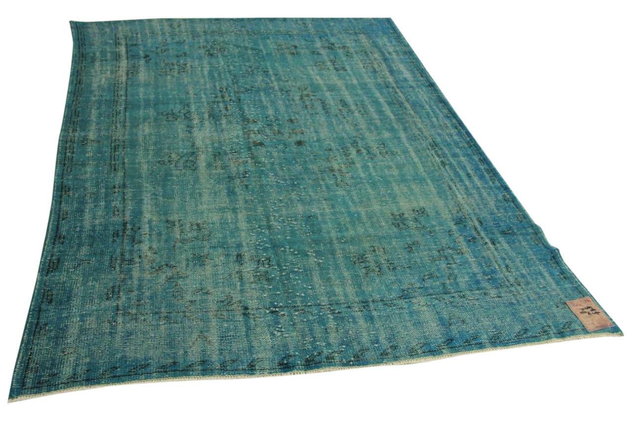 blauw vintage vloerkleed 253cm x 185cm nr31489