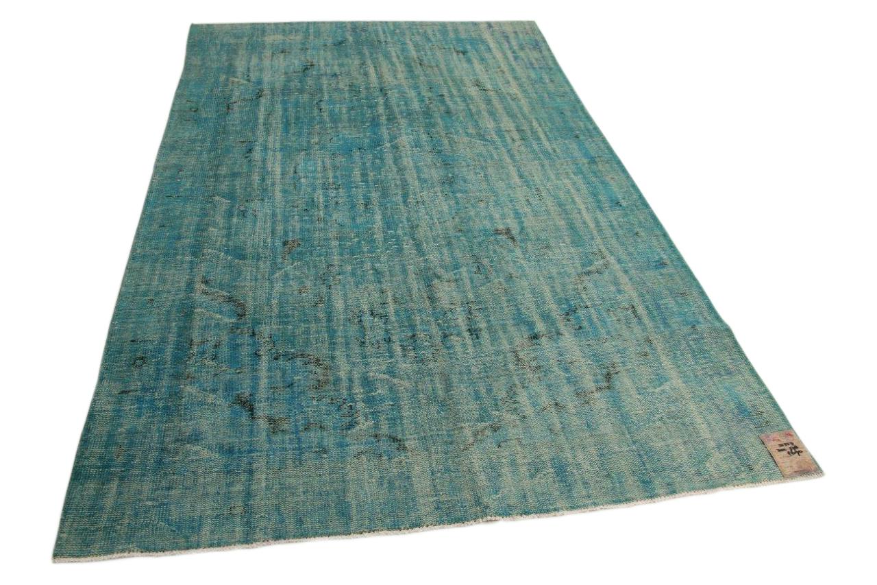 Blauw vintage vloerkleed 302cm x 178cm nr31553