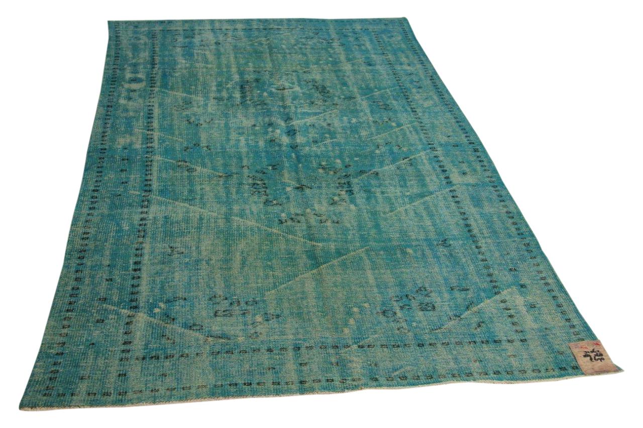 Blauw vintage vloerkleed 287cm x 168cm nr31562