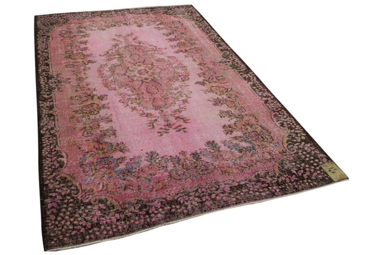 vintage vloerkleed roze 32554  288cm x 177cm