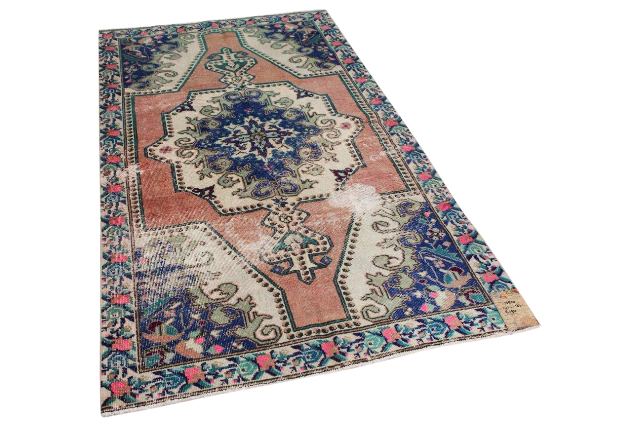 Vintage vloerkleed diverse kleuren nr:33820 222cm x 134cm
