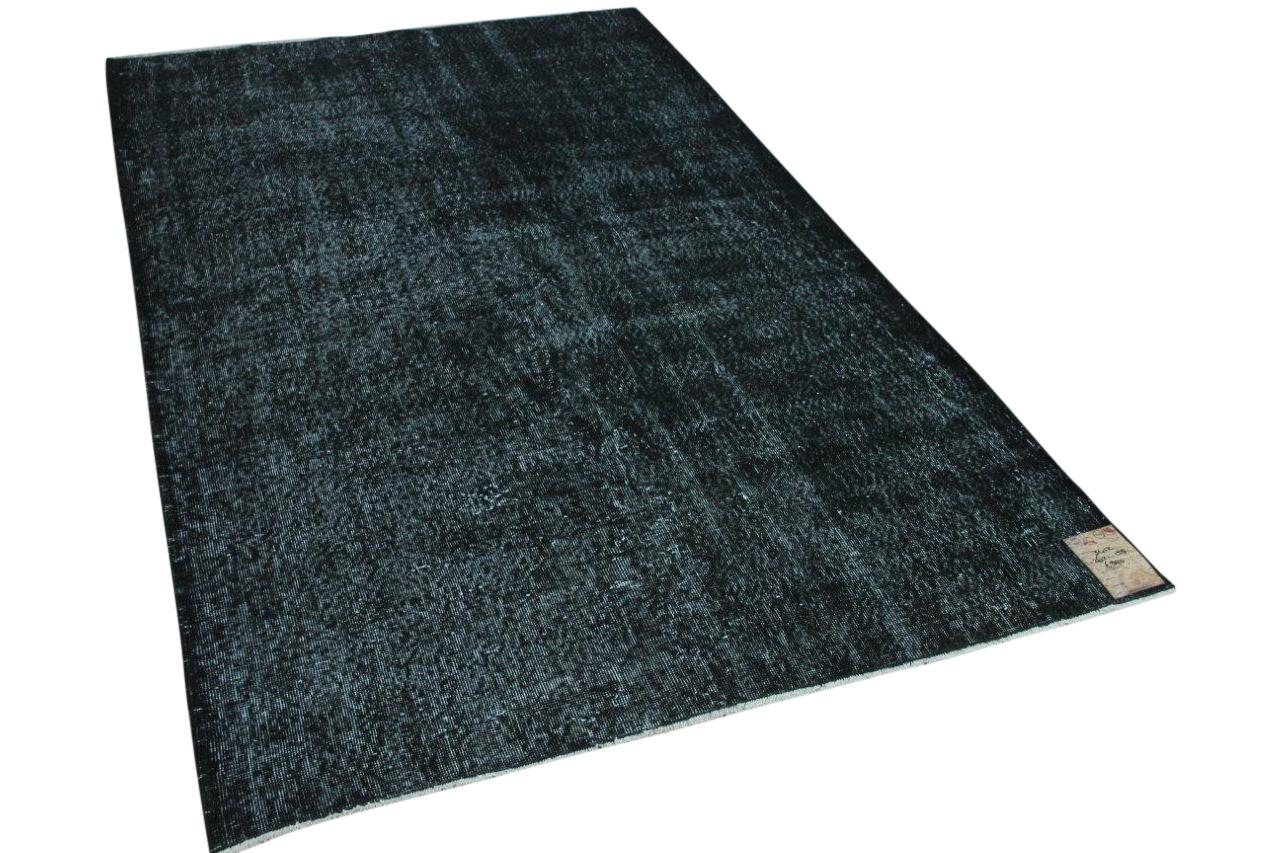 Vintage vloerkleed zwart 262cm x 158cm