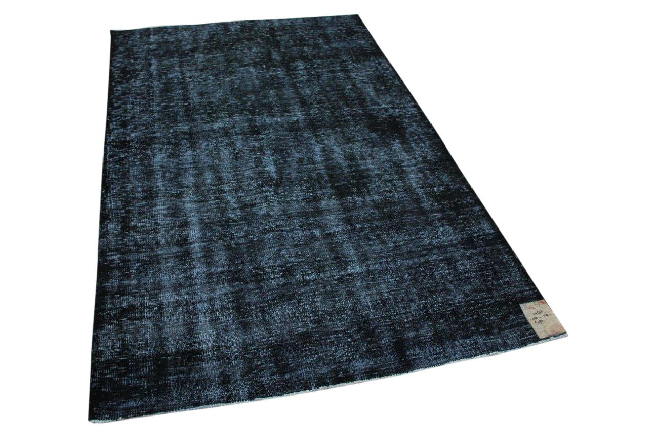 Vintage vloerkleed zwart nr:34357 265cm x 160cm
