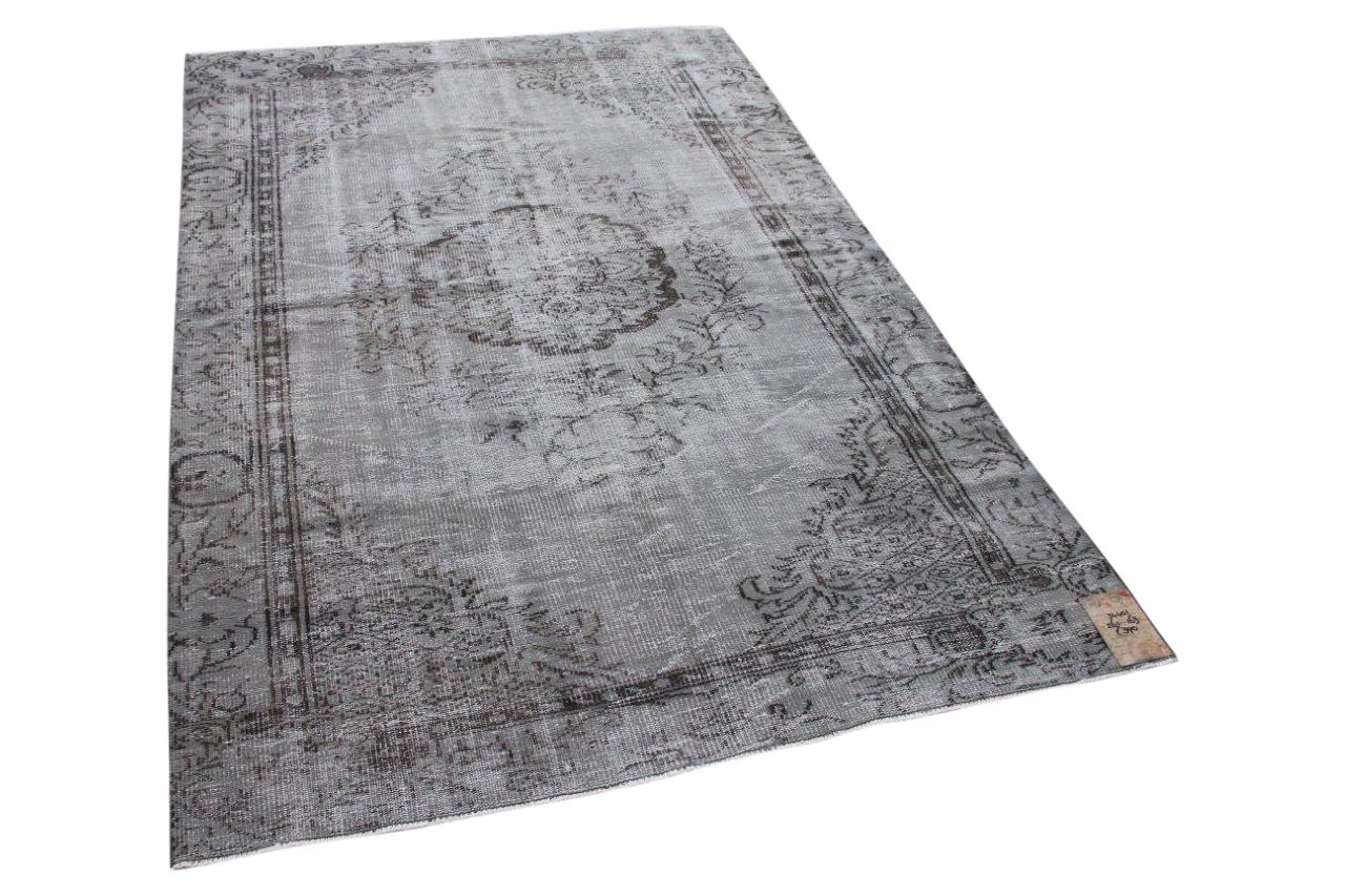 Vintage vloerkleed grijs 34401 261cm x 163cm