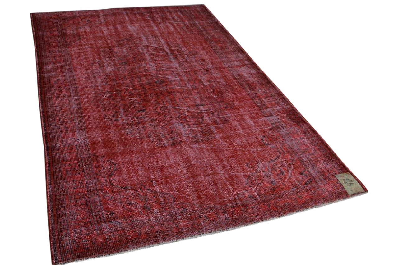 Vintage vloerkleed rood 260cm x 165cm