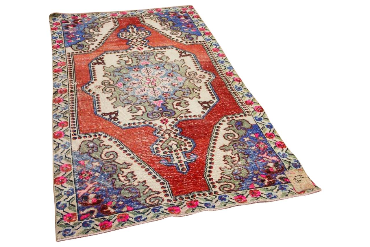 Vintage vloerkleed rood, paars 34979 236cm x 130cm