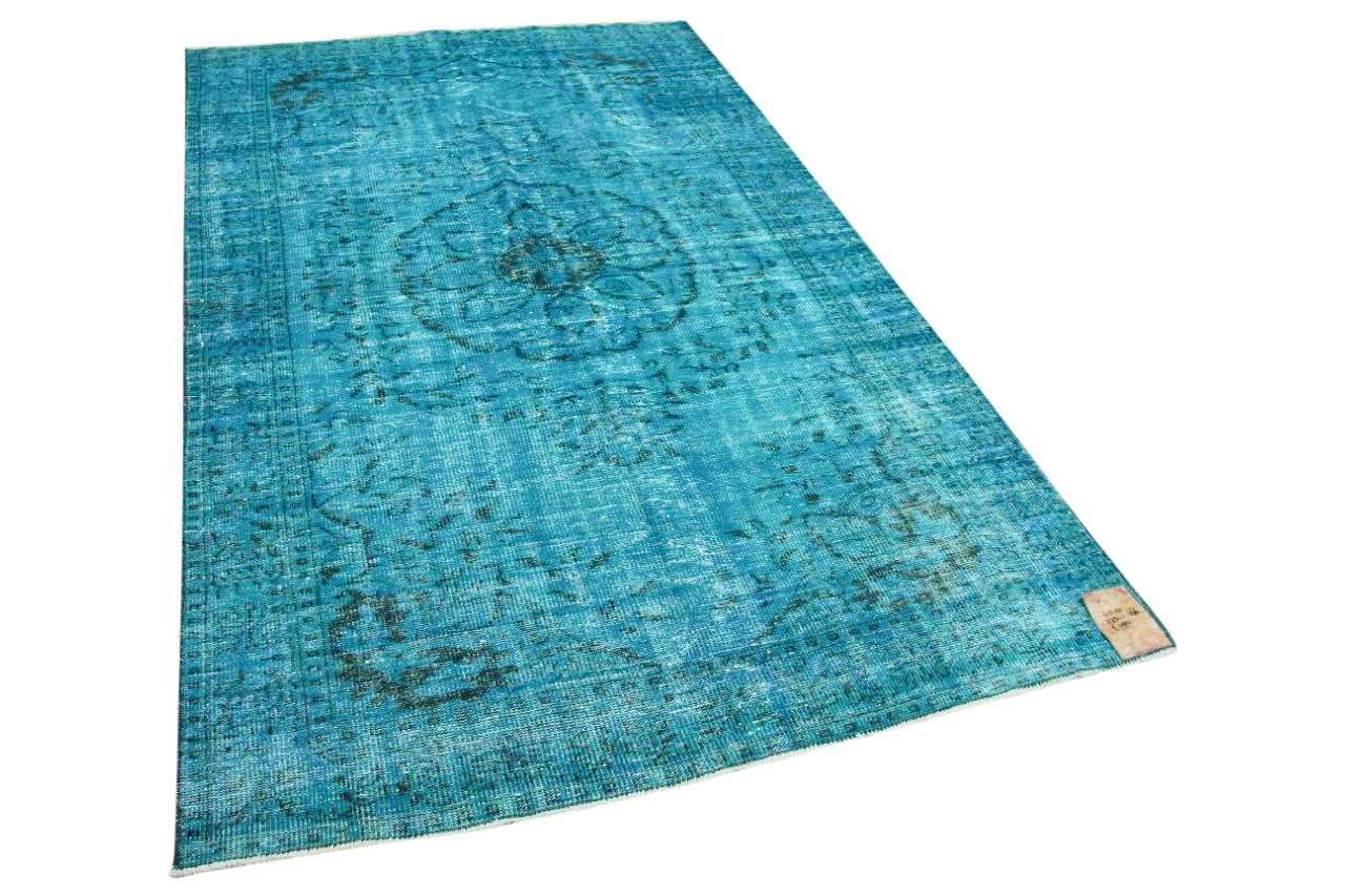Vintage vloerkleed blauw  41510 273cm x 166cm