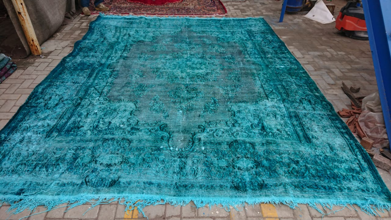 Vintage vloerkleed nr.46012 388cm x 300cm