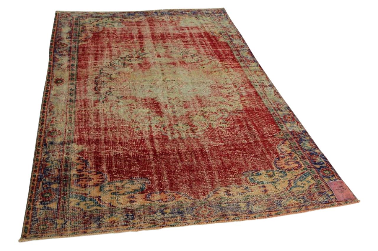 Rood vintage vloerkleed 250cm x 167cm nr4708