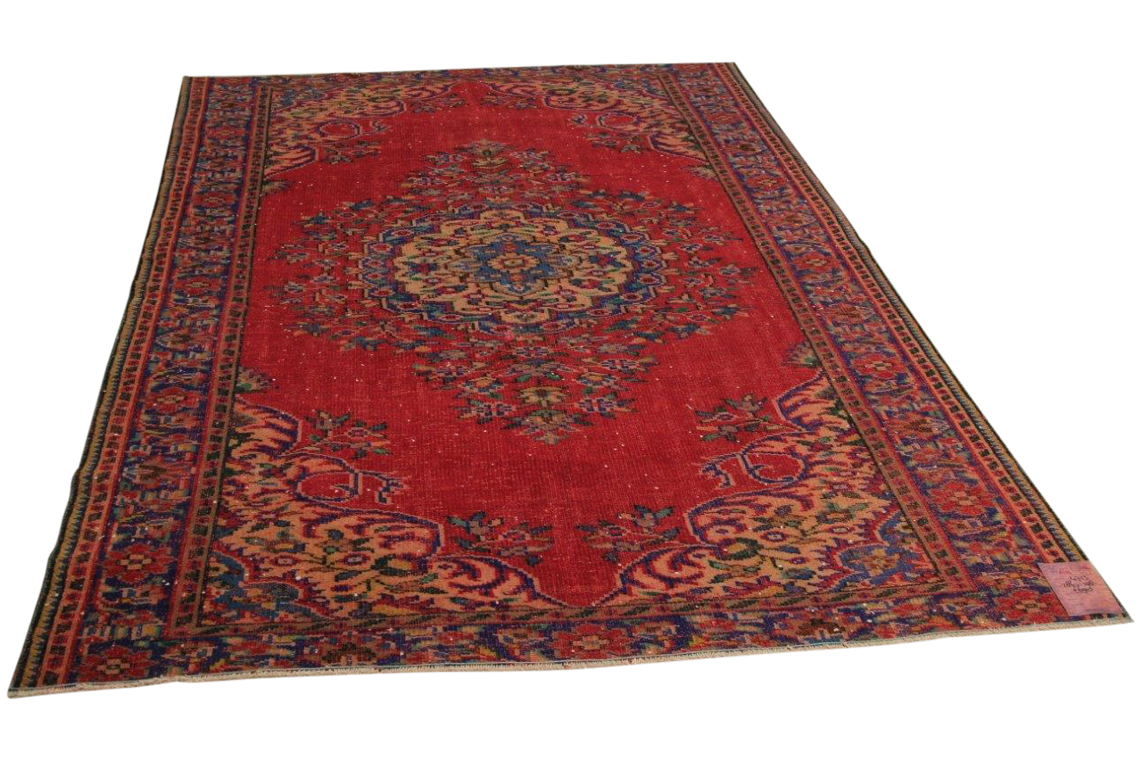 vintage vloerkleed rood 286cm x 198cm