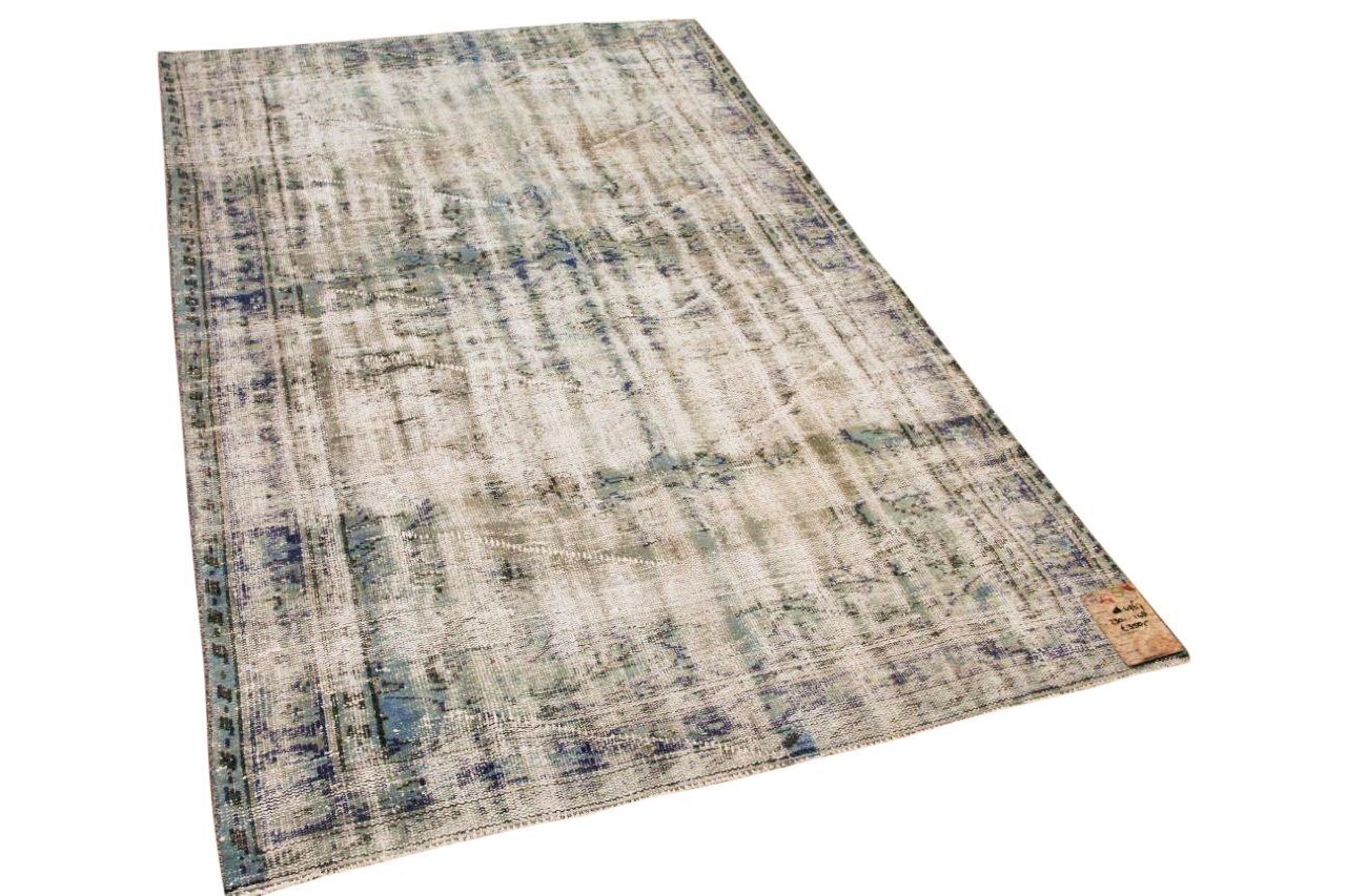 Vintage vloerkleed blauw 4967 230cm x 148cm