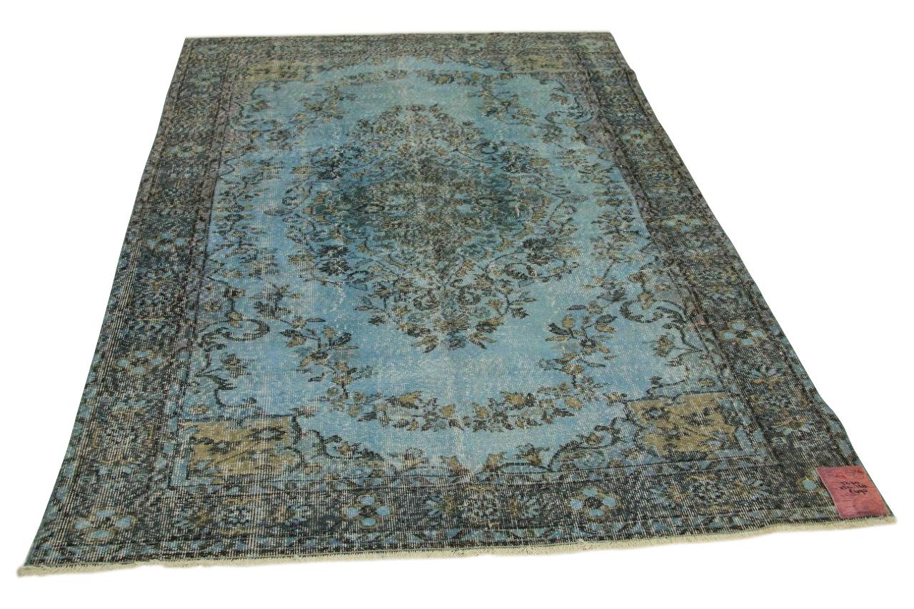 Blauw vintage vloerkleed 252cm x 168cm nr5270