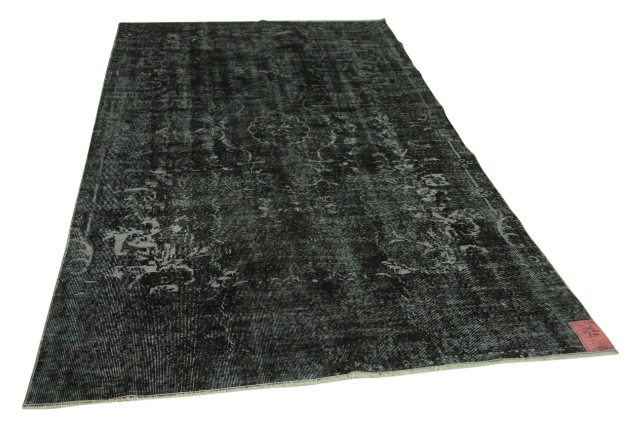 Zwart vintage vloerkleed 317cm x 180cm nr5326