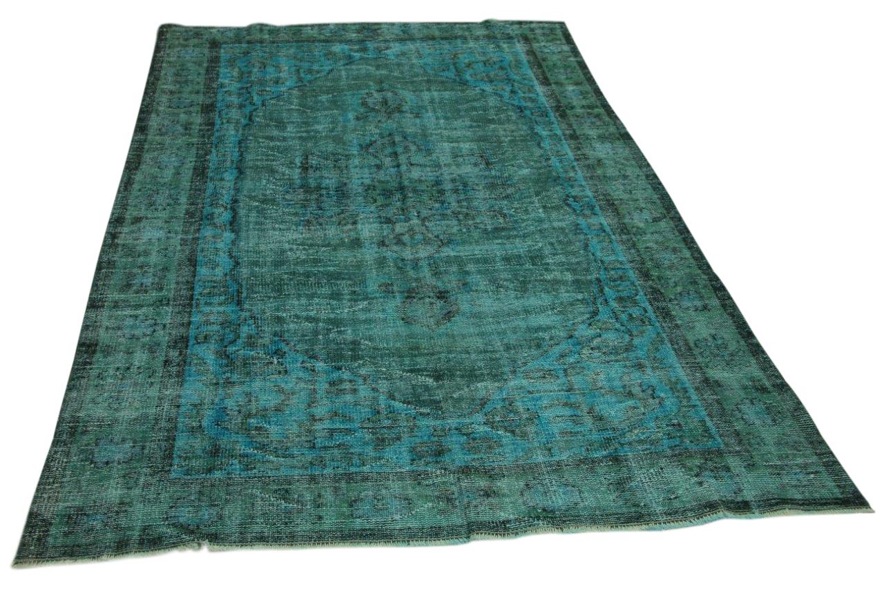 vintage vloerkleed blauw 283cm x 170cm