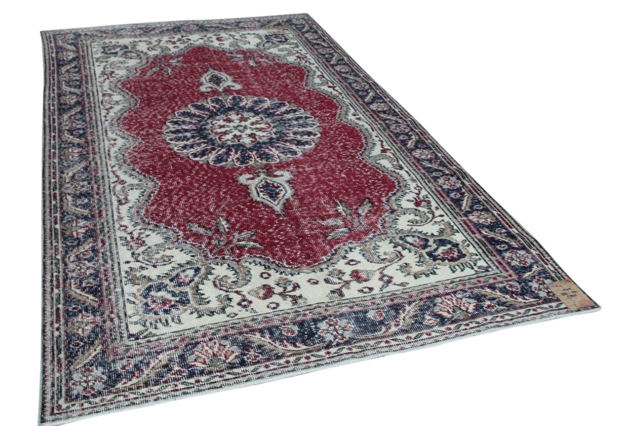 Vintage vloerkleed met rood 5445 328cm x 192cm
