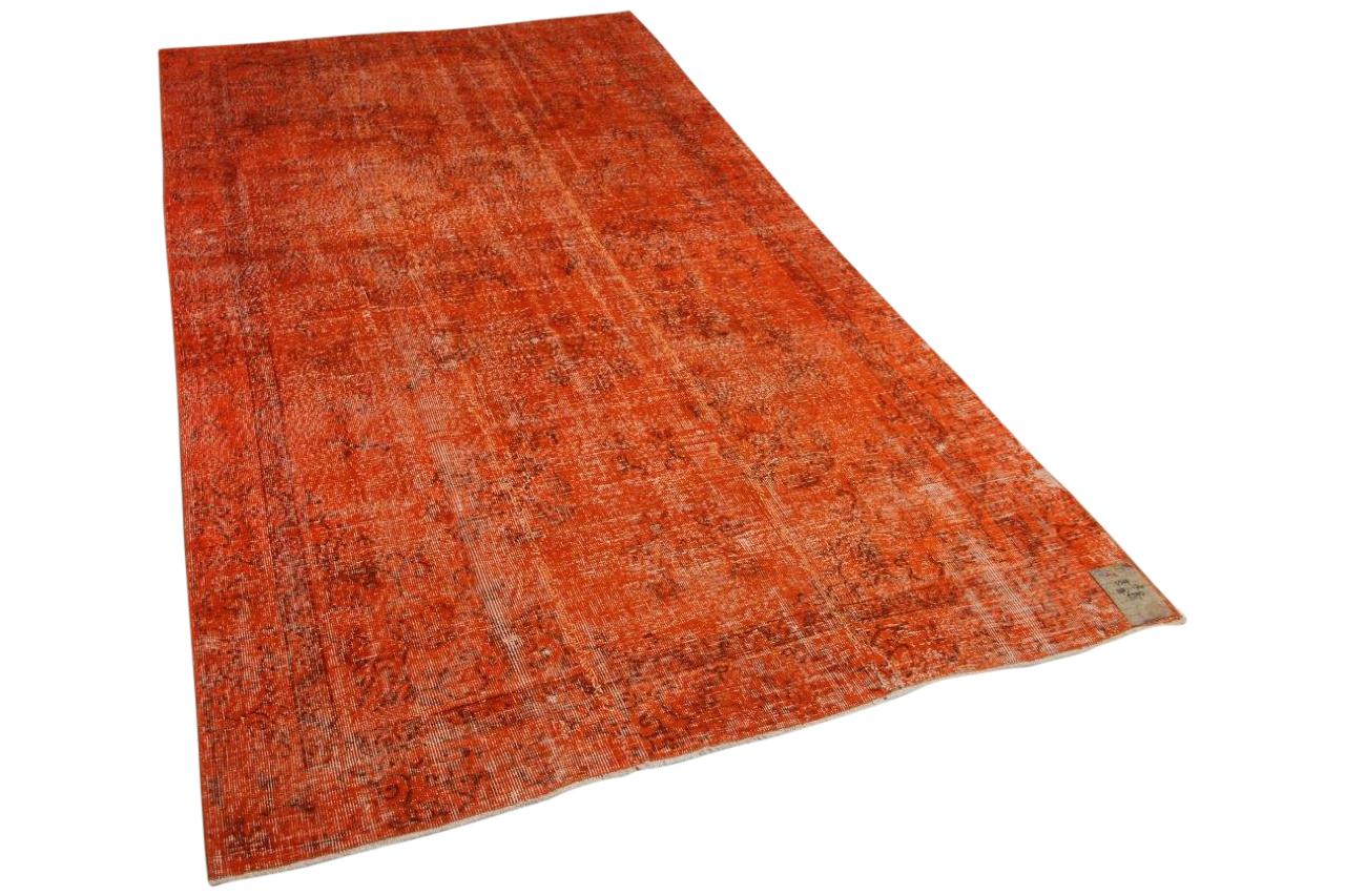Vintage vloerkleed oranje 5519 298cm x 174cm